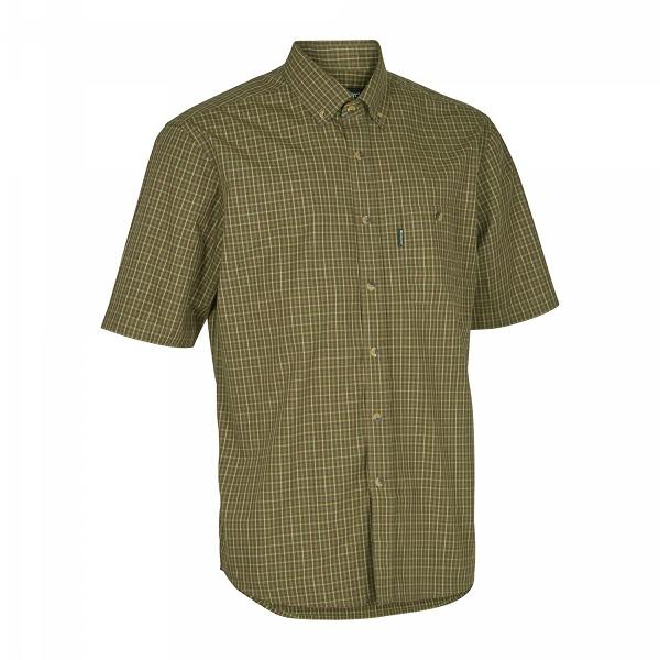 Deerhunter Nikhil Short Sleeve Shirt - Green Check - CLEARANCE OFFER