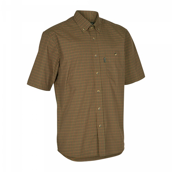Deerhunter Nikhil Short Sleeve Shirt - Red Check - CLEARANCE OFFER