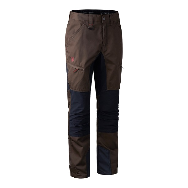 Deerhunter Rogaland Stretch Trousers with Contrast - Brown Leaf