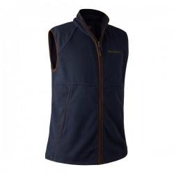 Deerhunter Wingshooter Fleece Waistcoat - Graphite Blue