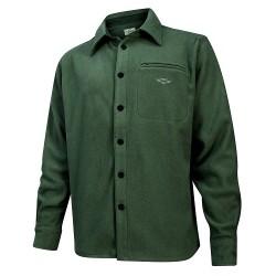 Hoggs of Fife Highlander Micro Fleece Shirt - Dark Olive