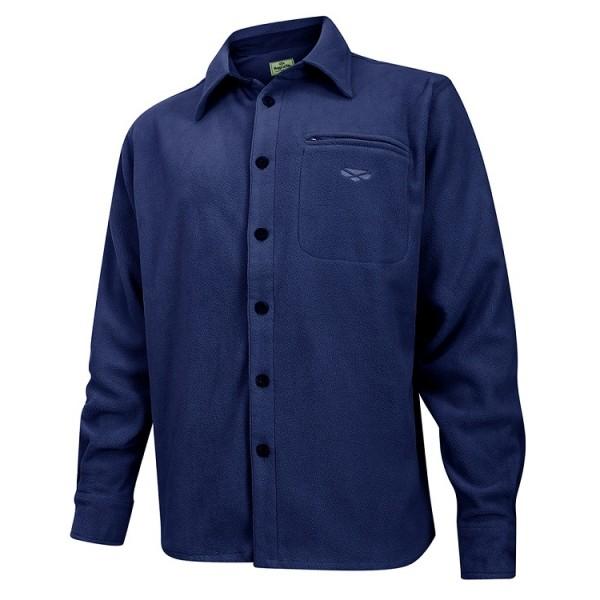 Hoggs of Fife Highlander Micro Fleece Shirt - Navy