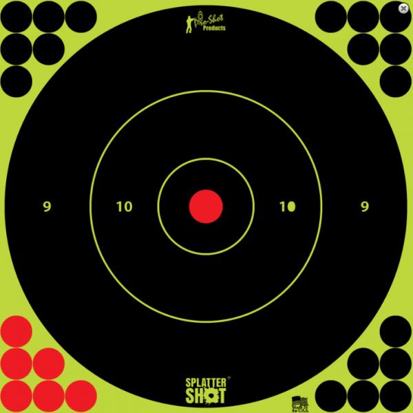 "Pro Shot Splatter Shot Peel & Stick Targets - 12"" 5 Qty Pack"