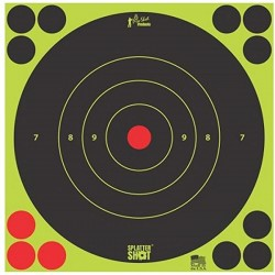 "Pro Shot Splatter Shot Peel & Stick Targets - 6"" 12 Qty Pack"