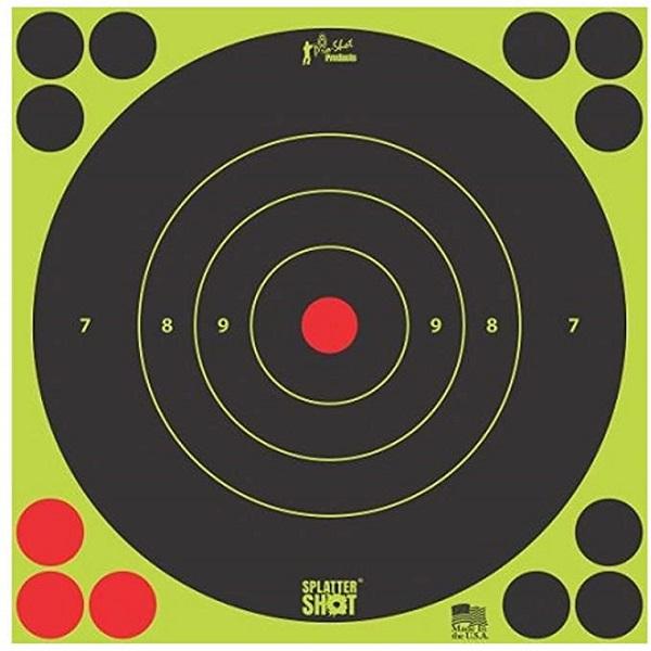 "Pro Shot Splatter Shot Peel & Stick Targets - 8"" 6 Qty Pack"